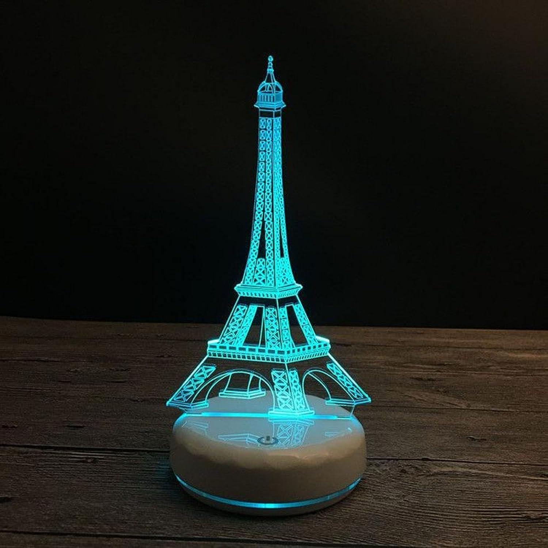 Más asequible Wmshpeds Porcelana base blancoa Torre Eiffel se ilumina dones dones dones creativos de Colors sensor de luces LED puede ser de control remoto  el estilo clásico