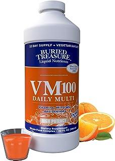 Sponsored Ad - Buried Treasure VM100 Daily Multi Liquid Vitamins and 70 Minerals Plus Antioxidants Supplement Maximum Abso...