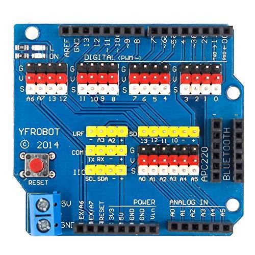 Sensor Shield Building ock Expansion Board Controller Delicated sy Install Data Transfer V5.0 Development Professional Electric Module Bot Zubehör für ARDuino R3