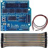 Tarjeta de expansión Youmile Sensor Shield V5.0 UNO MEGA R3 V5 para bloques de construcción electrónicos Arduino del robot Sistema Genuino con cable Dupont + cable de alimentación
