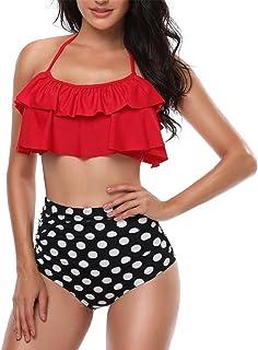 9318538f4e38 Amazon.es: Rojo - Bikinis / Ropa de baño: Ropa