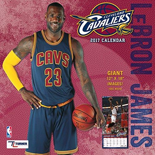 "Turner Licensing Sport 2017 Cleveland Cavaliers Lebron Jam Player Wall Calendar, 12""X12"" (17998011779)"