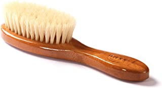 Bass Brushes | Baby Brush | 100% Premium Natural Bristle SOFT | Pure Bamboo Handle | Extra Small Oval | Dark Finish | Model BB1 - DB