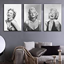 Classic Poster Room Home Decor 3 Panel Marilyn Monroe Decorative Painting Home Study Sofa Background Wall Painting