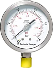 PI Controls UK Pressure Gauge, PG-100-R1-WF-SS