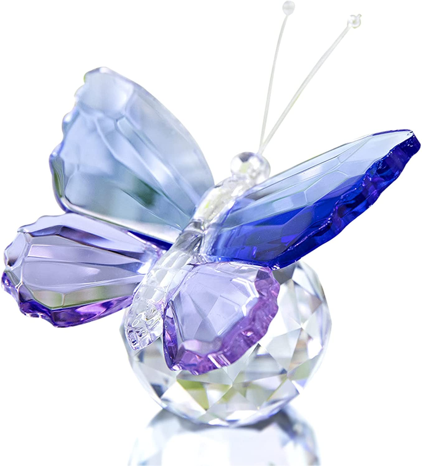 Crystal Butterfly 5 ☆ very popular Figurine Glass Animal Ornament Collectible Dec High order