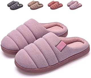 Men's Cotton Slippers, Indoor Thick-Soled Non-Slip Warm Slippers, Large Size Men's Cotton Shoes,C,40/41
