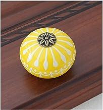 GAXQFEI Deurklink kledingkast deurklink keramische knop/dressoir knoppen wit blauw kabinet trekt knoppen/unieke keuken deu...