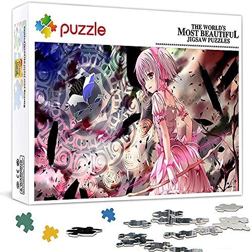 Rompecabezas 1000 piezas para adultos Puella Magi Madoka Magica rompecabezas para niños Juguete intelectual Juego educativo (75 x 50 cm)