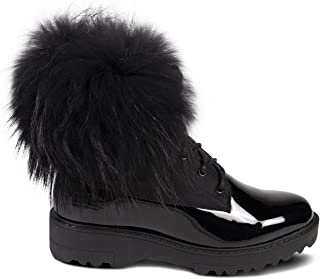 Cloud Nine Sheepskin Patent Leather Boots for Women