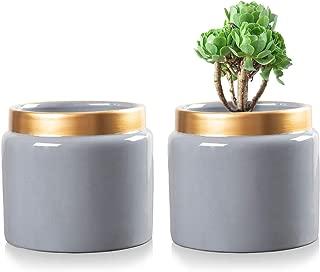 Ceramic Flower Pot Garden Plant Pot Containers Indoor Plants Home Garden Style 6.7inch Set of 2