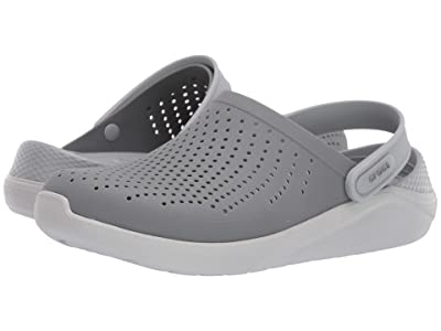 Crocs LiteRide Clog (Smoke/Pearl White) Shoes