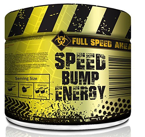 Speed Bump Energy Pre Workout Supplement Powder for Men, Women Strong Mental Focus with Caffeine, Beta Alanine and More of The Strongest Stimulants