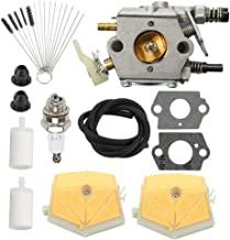 Coolwind WT-170 Carburetor with Air Filter Cleaner Tool Tune Up Kit for Husqvarna 51 55 Chainsaw WT-170-1 503281504