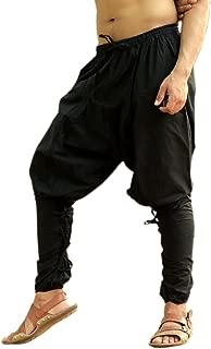 Mens Womens Cotton Churidar Pockets Harem Pants Yoga Pajama Ethnic Trouser