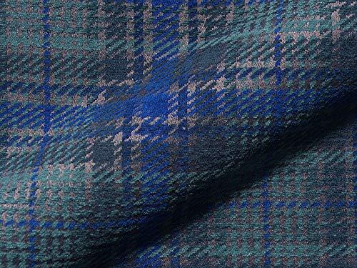 Joop Stoff Polsterstoff Möbelstoff Bezugsstoff Meterware für Stühle, Eckbänke, etc. - Scottish Blau Kariert