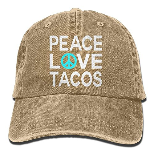 Peace Love Tacos Vintage Jeans Baseball Cap Trucker Hat for Men and Women HI722