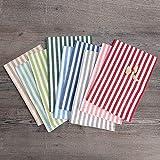 FILU Servietten 8er Pack Grau/Weiß gestreift (Farbe und Design wählbar) 45 x 45 cm - Stoffserviette aus 100% Baumwolle im skandinavischen Landhausstil - 6