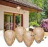 Stingmon 4 Pack Wasp Nest Decoy - Wasp Repellent Outdoor - Hanging...