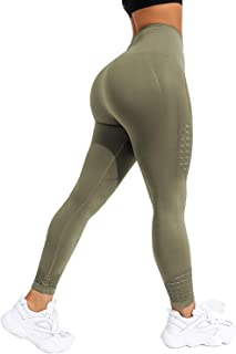 CROSS1946 Women's Seamless Yoga Legging High Waist Workout Compression Fitness Pants Slimming Gym Active Tight