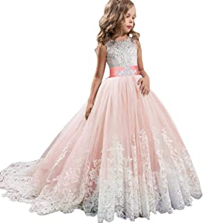 Robe dentelle rose amazon