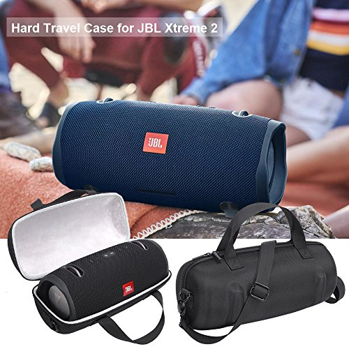 MASiKEN Hard Case for JBL Xtreme 2 - Protective Travel Carrying Case for JBL Xteme 2 Waterproof Portable Bluetooth Speaker with Pocket for Charger Adapter