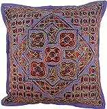 Guru-Shop Kissenhülle, Orient Kissenbezug, Dekokissen Bezug `Maharaja` - Muster 4, Violett,...
