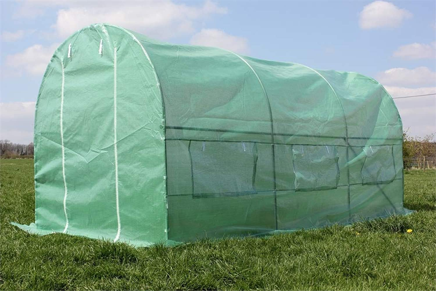 Palm Springs 2m x 4.5m Polytunnel Greenhouse  25mm Frame  Includes Anchor Pegs