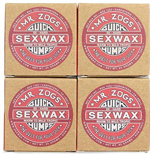 SEXWAX(セックスワックス) ワックス QUICK HUMPS 5X レッド 4個セット