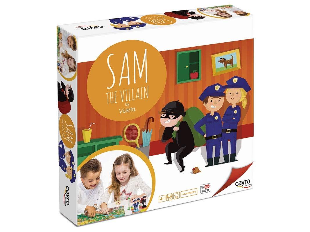 Cayro - Sam The Villain - Juego de Mesa - Desarrollo de Habilidades cognitiva e inteligencias múltiples- Juego de Mesa (892): Amazon.es: Juguetes y juegos