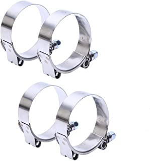 HiwowSport 79-87MM Working Range T-Bolt Stainless Steel Clamp Fit for 3.0'' ID Turbo Intercooler Hose, Pack of 4pcs