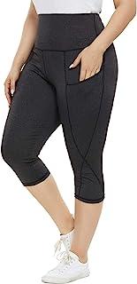 Hanna Nikole Women's Plus Size High Waist Yoga Capri Leggings