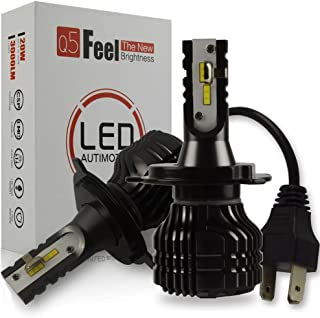 Bombilla H4 LED Coche, Safego 8000LM Faros Delanteros Bombillas para Moto, 6000K Xenon Blanco 12V-24V, Kit de Conversión Todo en Uno, Reemplazo de la Luz Halógena, 1 años de garantía