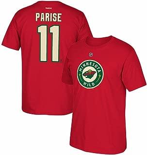 Zach Parise Reebok Minnesota Wild Player Premier N&N Red Jersey T-Shirt Men's
