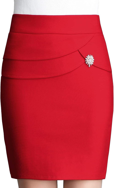 DISSA DA1136 Women Hight Waist Mini Pencil Skirt