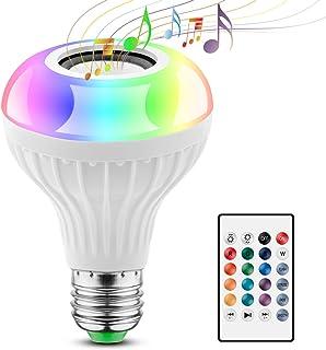 2 EN 1 Lampe Ampoule Bluetooth LED Couleurs E27 Enceinte Musique Hauts-parleurs RGB Lampe Couleur Intelligente Lumières Co...