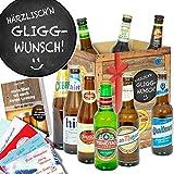 Härrzlisch'n Gliggwunsch ++ Geschenk Spruch lustig ++ Weltbiere in Geschenkbox