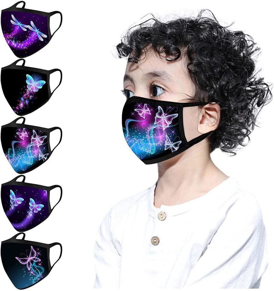 5pcs Free Shipping New Kids Reusable Translated Face_Masks Washable Cute F Breathable Cartoon