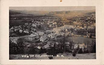 Colebrook New Hampshire Birds Eye View Real Photo Vintage Postcard JF685197