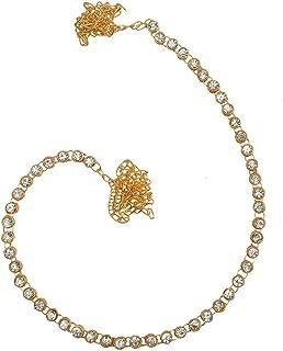 Taj Pearl Golden Non-Precious Metal Kamarbandh Waist Belt for Women