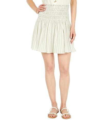 Madewell Smocked Pull-On Mini Skirt in Stripe