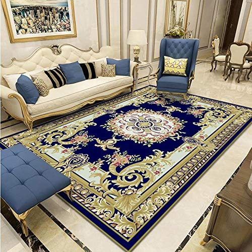 Chinese Carved Large Carpet, Home Non-Slip Thickening Living Room, Large Area Covered Carpet, Sofa, Coffee Table Cushion, Washable