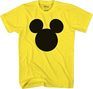 Mickey Mouse Head Silhouette Men's Adult Graphic Tee T-Shirt