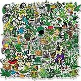 100 Unids/Set De Pegatinas De Graffiti De Hojas De Hierba De Anime para Equipaje De Ordenador Portátil, Bicicleta, Coche, Monopatín, Ordenador, Calcomanía Impermeable, Juguetes