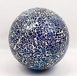 Dekokugel Mosaik-Kugel Kugel blau maritim aus Glas Ø ca. 20cm