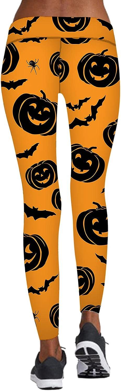 Demosia Halloween A surprise price is realized New popularity Pumpkin Print Sports Yoga W Pants Women's High