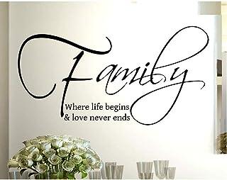 Stickerdesign Adesivo Murale Wall Stickers Frase Citazione Family & love Amore e Vita Adesivi Murali Decorazione interni F...