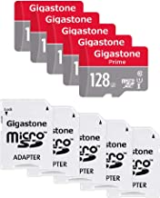 Gigastone Micro SD Card 128GB 5-Pack MicroSD HC U1 C10 with Mini Case and SD Adapter High Speed Memory Card Class 10 UHS-I Full HD Video Nintendo Switch Dash cam GoPro Camera Samsung Canon Nikon Drone
