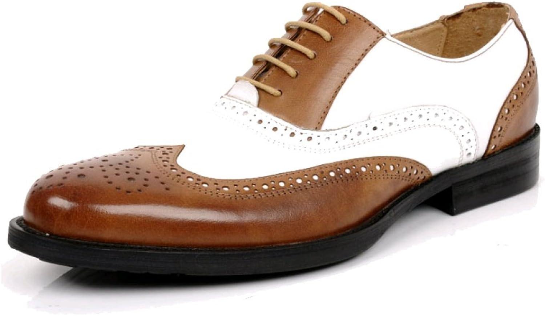 ZQZQ Britannique Coréen Sculpté Hommes d'affaires Porter des Chaussures en Cuir Chaussures pour Hommes Version Européenne De respirant