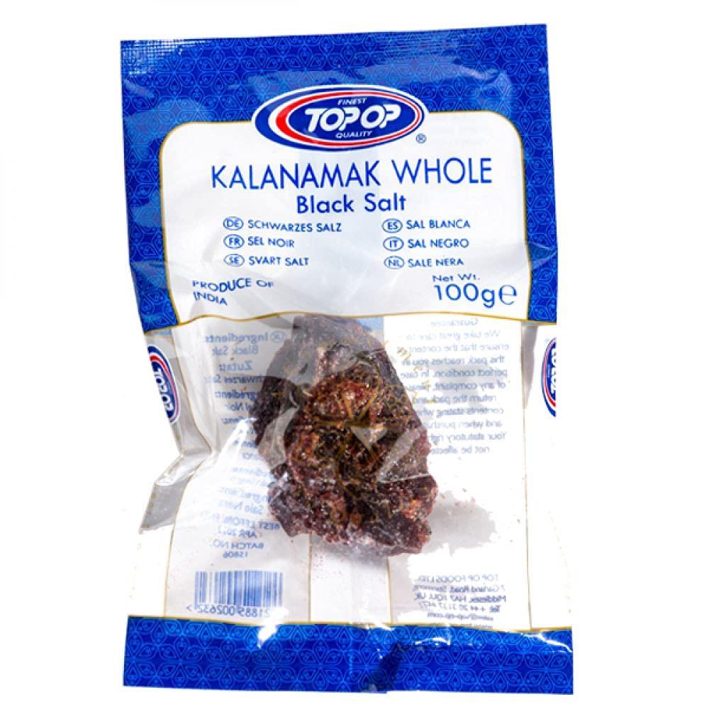 Top Op - Whole Black Salt - (kalanamak whole) - 100g - (pack of